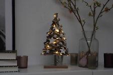 Holz Weihnachtsbaum 15 LED - 37x20cm - Tisch Deko Holzbaum Tannenbaum beleuchtet