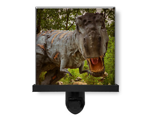 Prehistoric Tyrannosaurus Rex Dinosaur Glass Photo Night Light