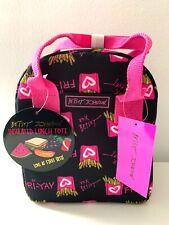 Luv Betsey Johnson Lunch Bag Box Tote Fri-Yay French Fries Multi Black Pink NWT