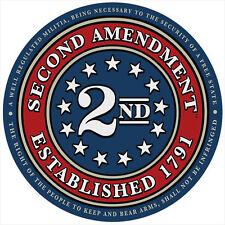 "4"" Second Amendment Brand Seal of 1791 Circle Sticker Decal 2nd American USA 2A"
