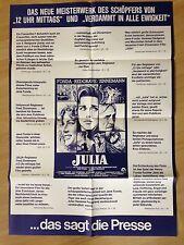 Filmposter * Kinoplakat * A1 * Julia * EA 1978 * Fred Zinnemann * Presseplakat