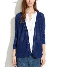 Madewell 100% Linen Cardigan Light Sweater Blue Size S