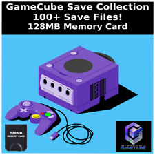 GameCube Save Collection | 100+ Saves | Everything Unlocked | 128MB Memory Card