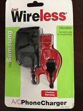 JUST WIRELESS SAMSUNG A/C PHONE CHARGER FITS MANY OTHERS TOO