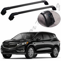 Black Crossbars Cross Bars Roof Rail Racks Fit for Buick Enclave 2018 2019
