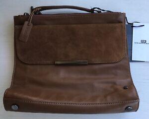 Desiderius Genuine Leather Tan Brown Unisex Satchel