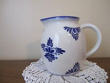 Very Nice Vintage Blue and White Pitcher for Milk, Juice or Water