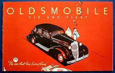Prospekt brochure 1936 Oldsmobile Six and Eight (USA)