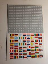 Feuille autocollante avec drapeaux Européens + millésimes + ateliers Allemagne