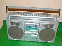 HITACHI TRK-7800E Radio CASSETTE Boombox Vintage 1980s Faulty Spares Repairs