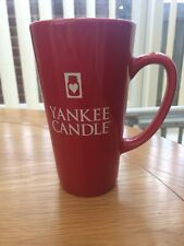 Yankee Candle Tall Red Mug
