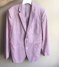 Bonobos Tessuti Sondrio Men's  Pink Sport Blazer Jacket 40S Cotton Made In Italy