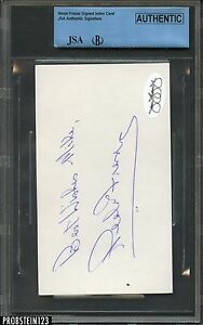 Neale Fraser Signed AUTO Index Card BGS JSA Authentic
