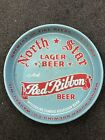 North Star Red Ribbon Lager Beer Mathie-Ruder Brewing Company Tray Wausau WI