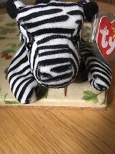 Ty Beanie Babies Ziggy The Zebra Very Rare 4th Gen Tag PVC Pellets 1995