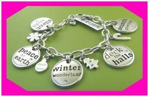 BRIGHTON BE B MERRY Joy Snowflakes XMas CHRISTMAS Charm BRACELET NWtag Pouch
