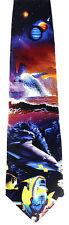 Ocean Planet Mens Silk Necktie Animal Neck Tie Sea Fish Whale Dolphin Gift New