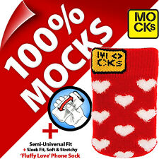 Mocks Love Heart Mobile Phone MP3 Sock Case Cover Pouch for iPhone 4S 5 5S 5C SE