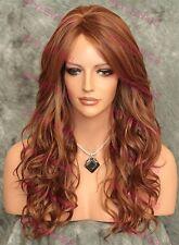 Light Auburn / Blonde Mix Long Heat OK Curly Synthetic Wig GABBY SAGA 30/27