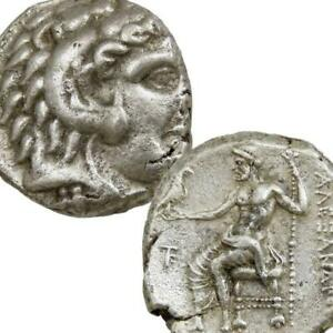 ALEXANDER the Great Lifetime Issue Herakles Zeus Authentic Ancient Coin Kition