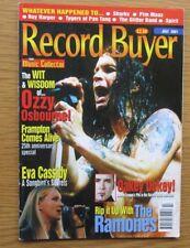 RECORD BUYER MAGAZINE JULY 2001 OZZY OSBOURNE COVER EVA CASSIDY FEATURE SONGBIRD
