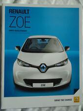 Renault Zoe range brochure Jan 2015