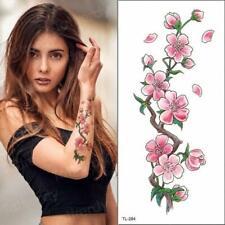 High Quality 19cm x 9cm Fake Temporary Tattoo Cherry Blossom Flower /-b747-/