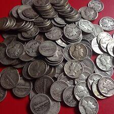 USA Lot 10 Mercury Dimes verschiedene Jahre und Prägestätten Silber 10 Cents