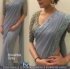 Bollywood  Designer Party Wear Gray Color  Georgette Fabric Saree