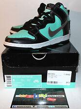 Nike Air Dunk PRM Premium High SB Teal Black Diamond Sneakers Men's Size 8 Used