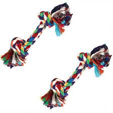 2 X Hundespielzeug, Baumwollknoten - Zerrseil-Zahnknoten - Knotenseil ca. 26 cm
