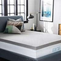 LUCID Bamboo Charcoal Memory Foam Mattress Topper - Returned, Out of Package OOP
