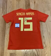 Sergio Ramos autographed signed authentic jersey Spain National Team - Beckett
