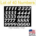Lot of 40 White or Black Vinyl Mailbox, Tool Box,Locker Numbers Decal [Ariston] photo