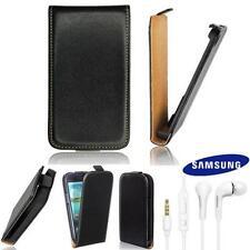 Zeyno Slim Flip Tasche Samsung i9070 Galaxy Advance mit Original Headset EHS64