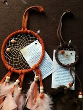 Lot of 2 Dream Catchers for Wall Car Hanging Decor Ornament Feather Craft Gift