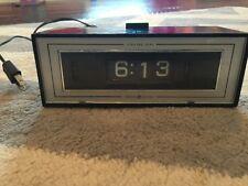 Vintage GE Flip Clock Alarm, Lighted Dial Model 8142-4  General-Electric 1970s