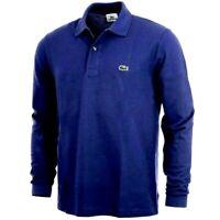 Lacoste Mens Polo Shirt Long Sleeve Royal 100% Cotton UK M US M Size 4 B26123