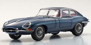 Jaguar E-Type Coupe Serie 1 (RHD) 3.8 Baujahr 1961 dark blue 1:18  Kyosho