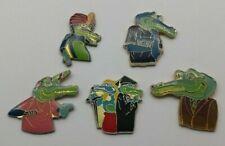 Vintage Collection of 5 Amstrad PC Computer Crocodile Alligator Pin Badges Lot