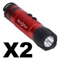 Nite Ize Radiant 3-in-1 LED Mini Flashlight Red 80 Lumens Lantern Light (2-Pack)