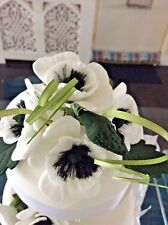 SUGAR POSY ANENOMIES / POPPIES FOR CAKE IN WHITE, ALSO IN MORE  COLOURS