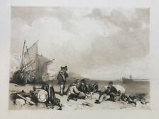 1835 Antique Print; Hastings, Sussex after James Duffield Harding