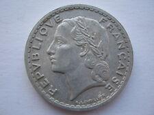 France 1948 B aluminium 5 Francs, high grade.