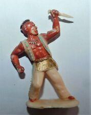 ANCIEN PETIT SOLDAT 1/32 . INDIEN AVEC POIGNARD . NO STARLUX, A DEFINIR