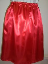 red satin underskirt slip custom made 10 12 14 16 18 20 22 24 26 28 30 32 34 36