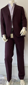 Brioni Suit Madison Brioni Red Size IT52 UK42 BNWT Wool/Cotton/Silk RRP £3620
