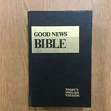 Good News Bible Today's English Version 1976 Illustrated Black Hardcover Book