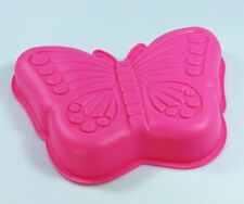 LARGE PINK Butterfly Girls Birthday Party Cake Mold Silicone Mould Pan Tin Jelly