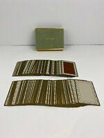 Tiffany & Co Vintage Playing Cards 2 complete decks with Jokers TAN & BROWN set
